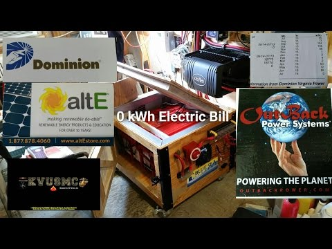 "Solar And Wind Home Power Bill ""0"" kWh July 2016 And How It Works Explained By KVUSMC"