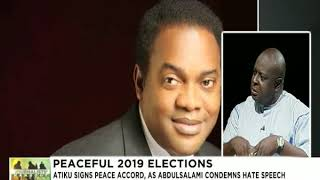 Journalists' Hangout 12th Dec., 2018 | 2019 Elections - Atiku, Others sign peace accord