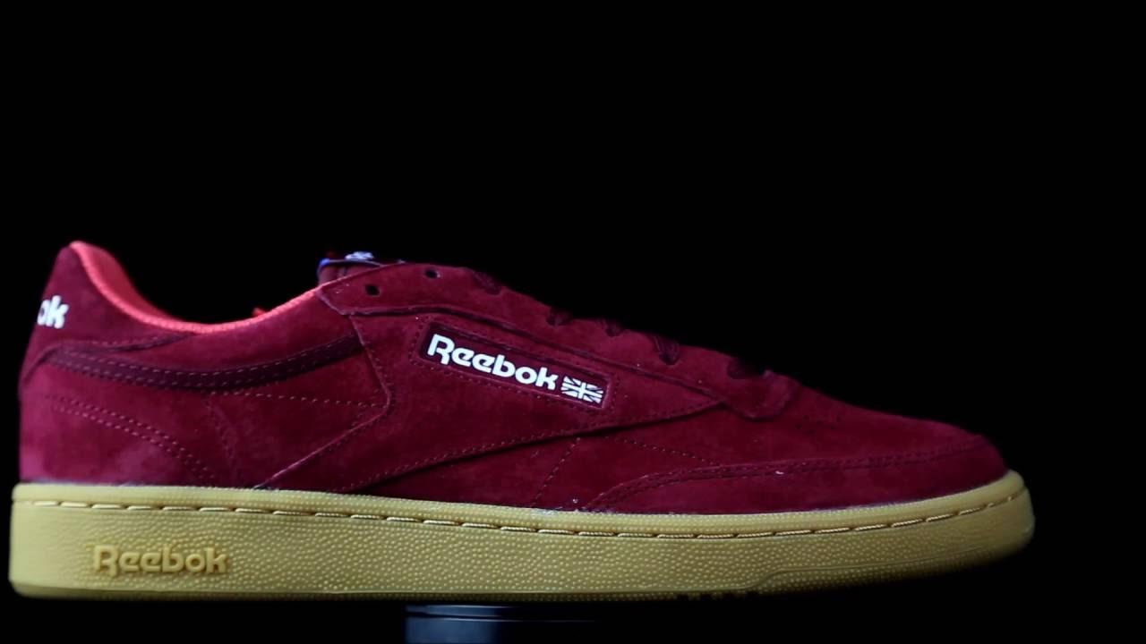3e6b00b235be41 Reebok Club C 85 suede rojo. - YouTube