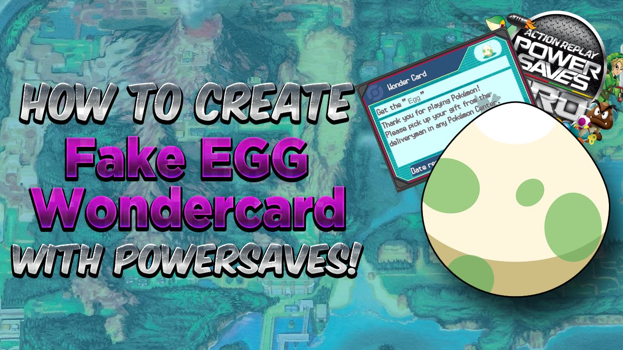 How To Use Fake Egg Wondercard Code Powersaves Tutorial