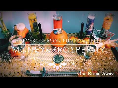 Full Moon Money Spell Harvest Pumpkin Ritual