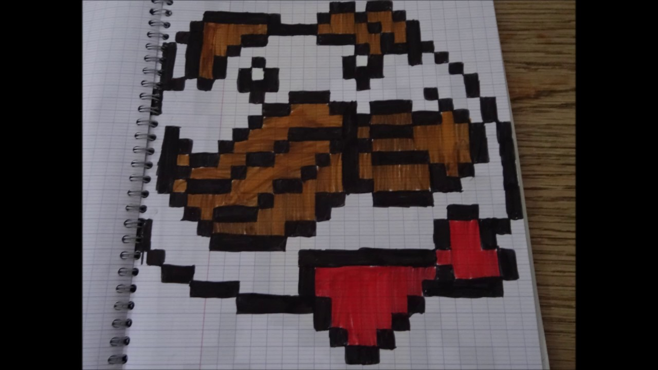 Pixel Art Grand Carreaux Facile