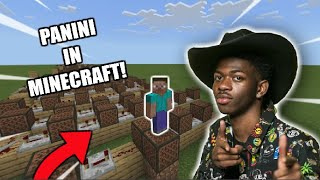 I Made Panini By Lil Nas X Using MINECRAFT NOTE BLOCKS!