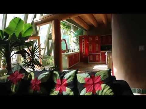An interior tour of an Earthship