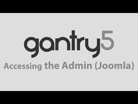 Gantry 5: Accessing the Administrator (Joomla)