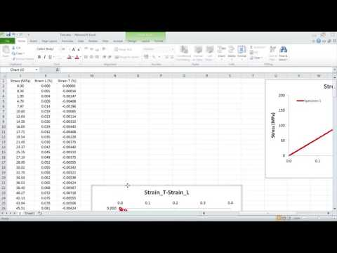 Instron Data Processing Stiffness