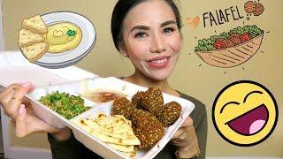 Mediterranean Food ASMR Mukbang   Falafel   Ranting about USPS   Eating Show   Eat with me