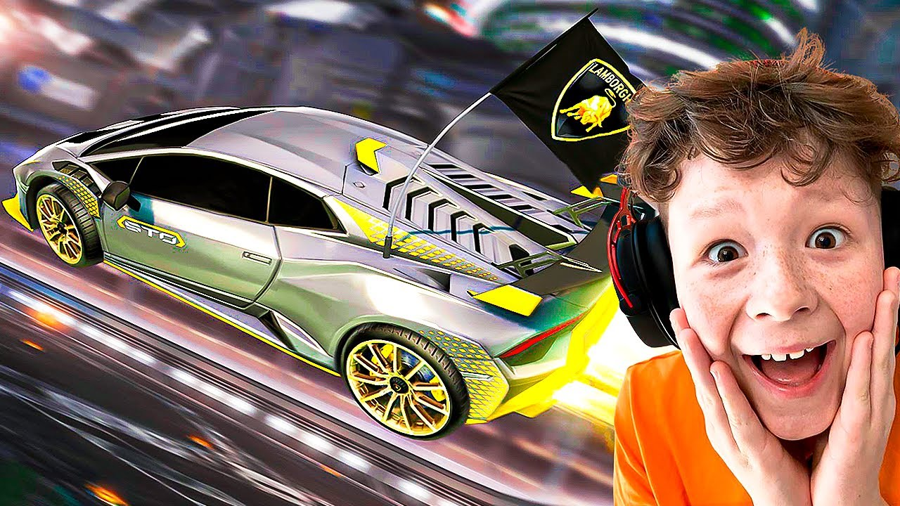 Playing with the BRAND NEW Lamborghini in Rocket League!
