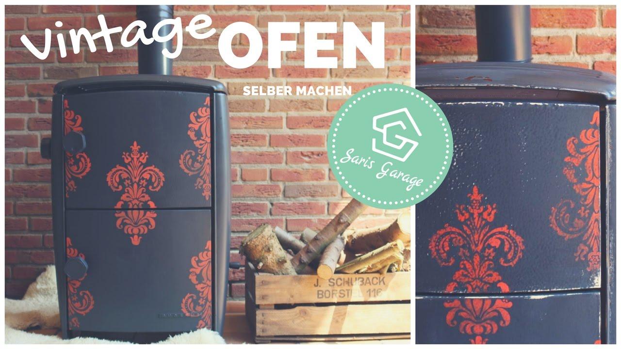 alter ofen aus den 50ern diy vintage upcycling. Black Bedroom Furniture Sets. Home Design Ideas