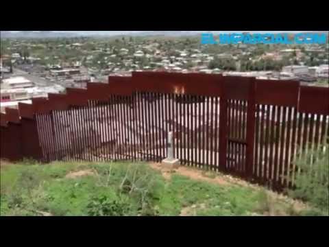 Hacen corte a muro fronterizo en Nogales