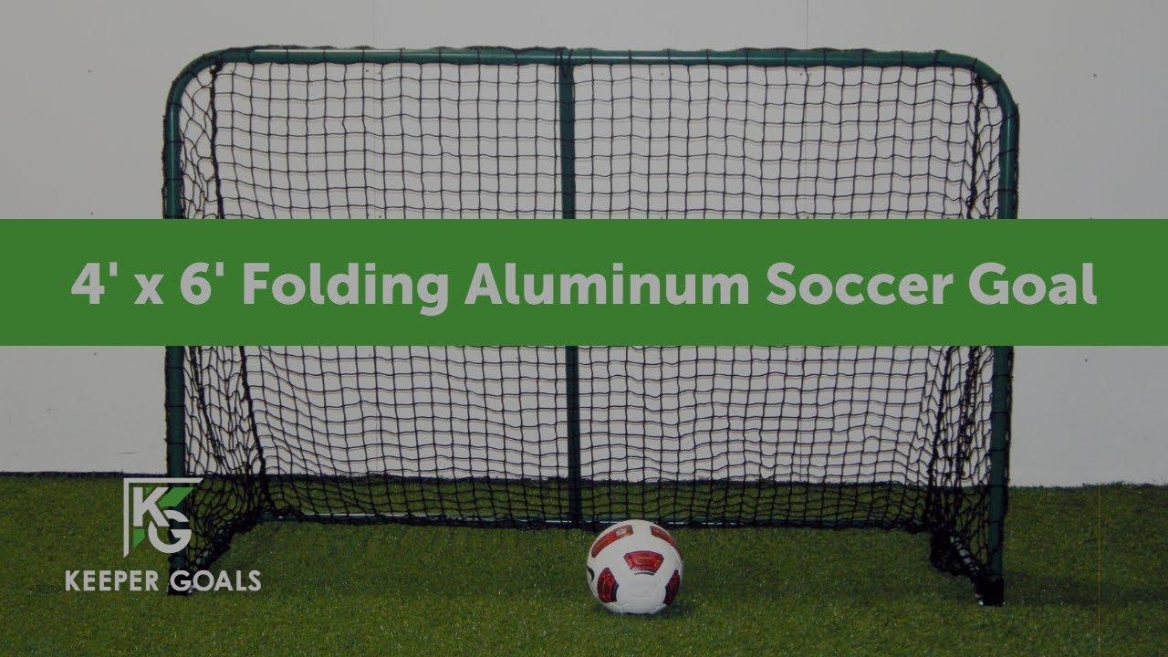 4 u0027 x 6 u0027 folding aluminum soccer goal youtube