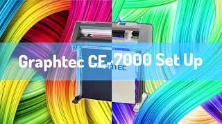 Graphtec Ce-7000 unbox setup and basic software tutorial video by Start 2 Print