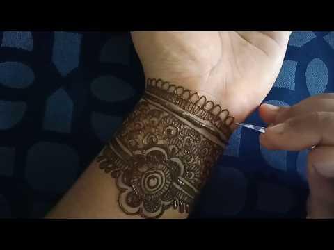 Semi bridal mahendi design  learn step by step bridal mahendi design