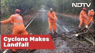 Cyclone Nisarga Makes Landfall On Maharashtra Coast