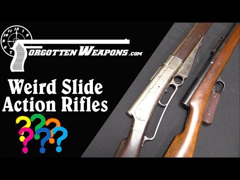 Weird Slide Action Prototype Rifles