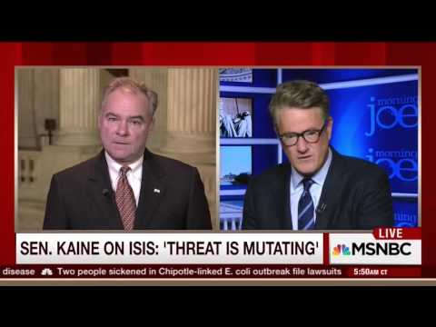 Morning Joe: As War Against ISIL Expands, Kaine Argues For Congressional Authorization