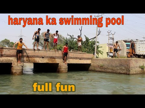 HARYANA KA SWIMMING POOL II नहर ki msti with fun II haryanvi comedy video 2018 II a run films