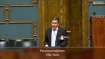 Ville Tavio, suomalaisten turvallisuus!
