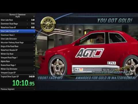 Burnout 3: Takedown any% in 2:46:05 (Not World Record or Personal Best)