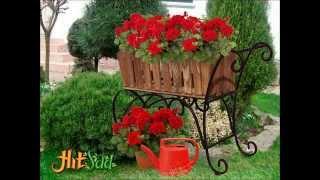Садовые подставки под цветы(Подставки для цветов в сад. -Тележки для цветов -Кованые подставки для цветов., 2015-06-23T09:46:13.000Z)