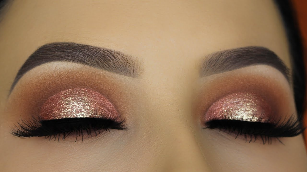 Pink Brown Eyeshadow Halo Eye Makeup Tutorial - Urban Decay Naked Heat Palette