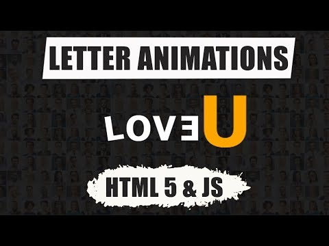 Letter Animation On Click Using Html 5 And Css 3|| New Website Tutorial