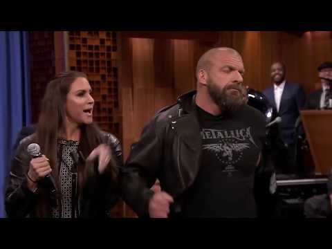 Triple H & Stephanie McMahon Lip Sync Moana's theme song - Hilarious
