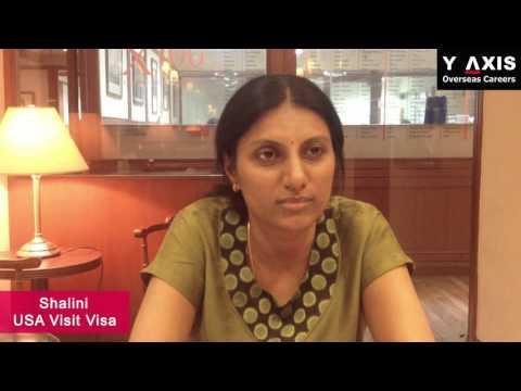 Y-Axis Review| Shalini Mamilla Testimonials On Her USA Visit Visa Processing.