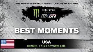 Race 2 Best Moments - Monster Energy FIM Motocross of Nations 2018