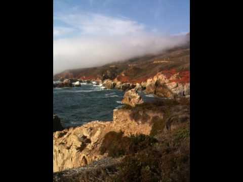 A beautiful California coast  at north of Big Sur