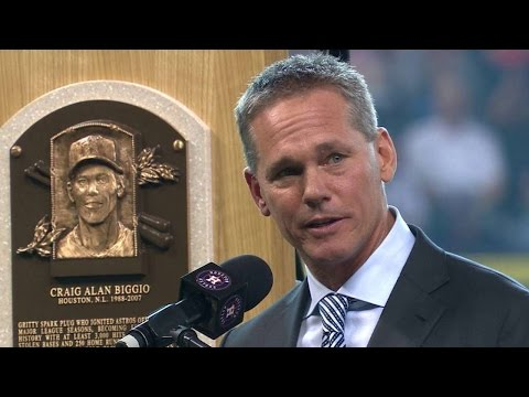 LAD@HOU: Astros honor Biggio with pregame ceremony