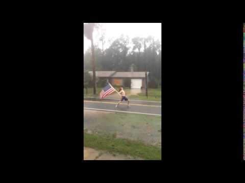 Dude Headbangs To SLAYER During Hurricane Matthew
