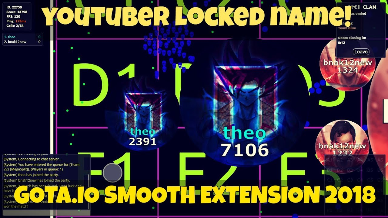 GOTA IO locked Name, 120 FPS, smooth no lag - EXTENSION 2019 Super