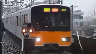 [警笛あり]東武スカイツリーライン朝ラッシュ 東武50050系準急「長津田行き」北越谷駅到着