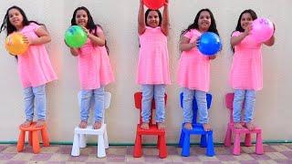 SHFA FOI CLONADO Aprendendo cores com bolas, Five little babies jumping on the bed song, colors