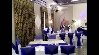 """Оформление свадьбы. Украшение свадебного зала в стиле """"Королевский Синий""""."""