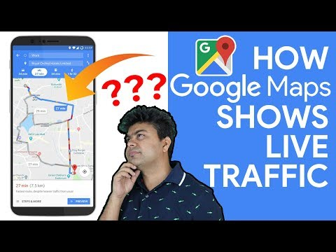 Google maps traffic at different times