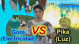 Combate entre la Devil Fruit Goro (Electrica) VS Pika (Luz)! | Roblox: One Piece Millenium