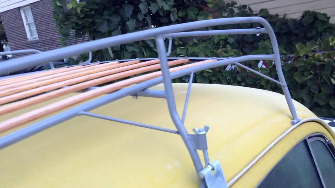 VW beetle knockdown roof rack review - YouTube