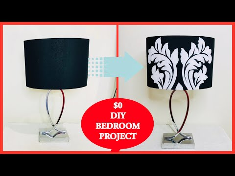 DIY Acrylic Paint LAMPSHADE | Easy Tutorial