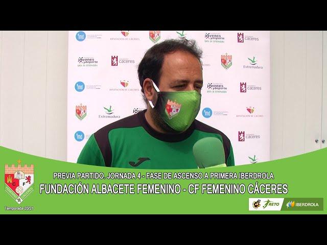 Liga #RetoIberdrola 20/21. Previa jornada 4ª FdA: FUNDACIÓN ALBACETE FEMENINO - CF FEMENINO CÁCERES