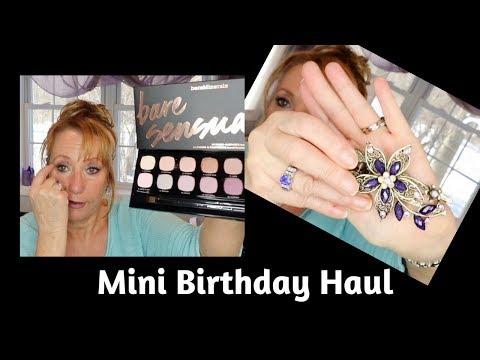 birthday-mini-haul-|-eye-shadow-palette-|-mature-beauty-|-sixty-plus