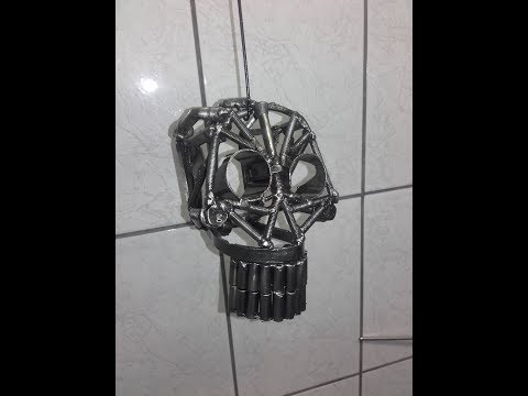 How i made a metal skull from recycled parts