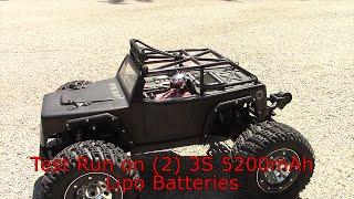 thunder tiger kaiser emta inside look and running jumping rc monster truck