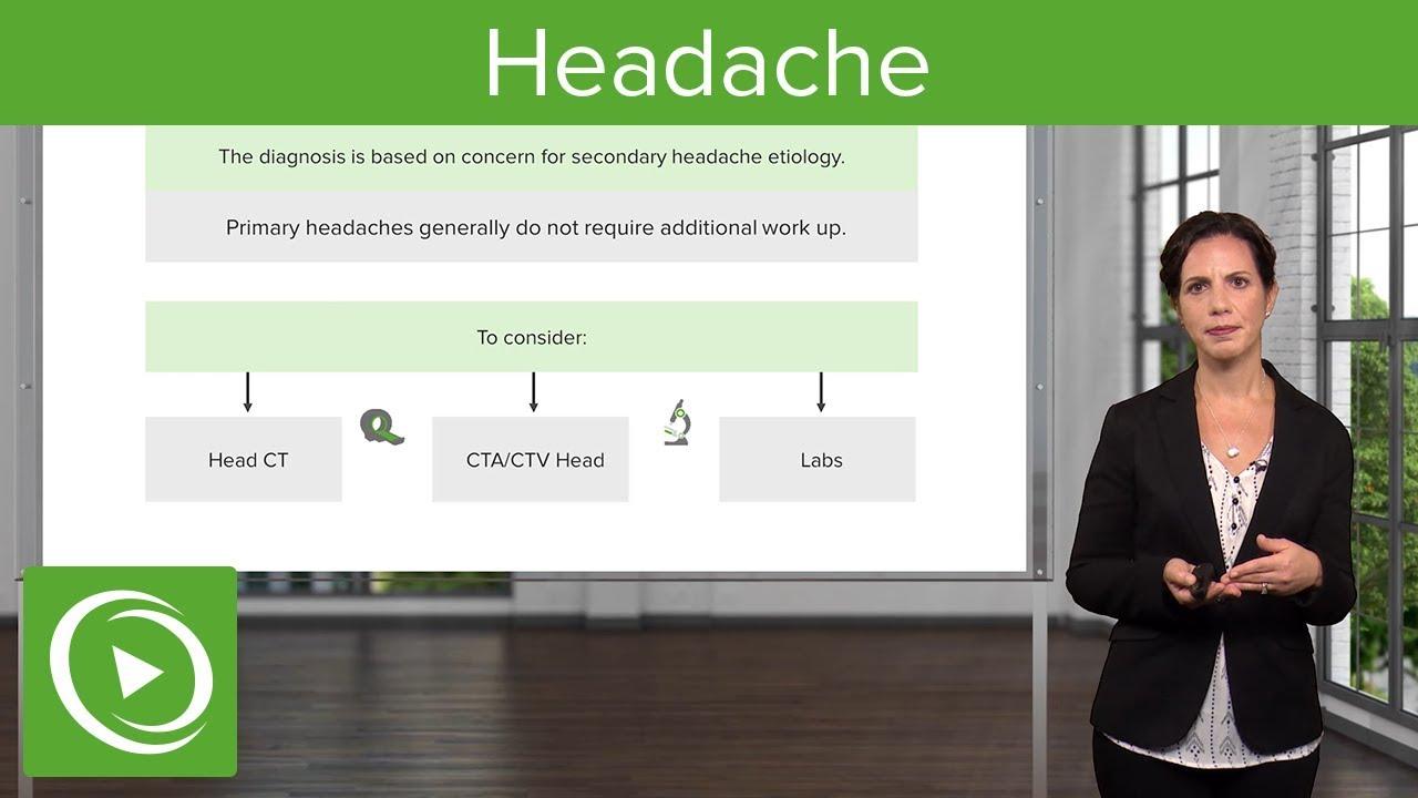 Headache (Emergency Medicine) – Emergency Medicine | Lecturio