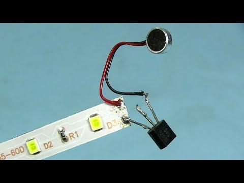Make Led Strip Music Light Audio Detector with C 945