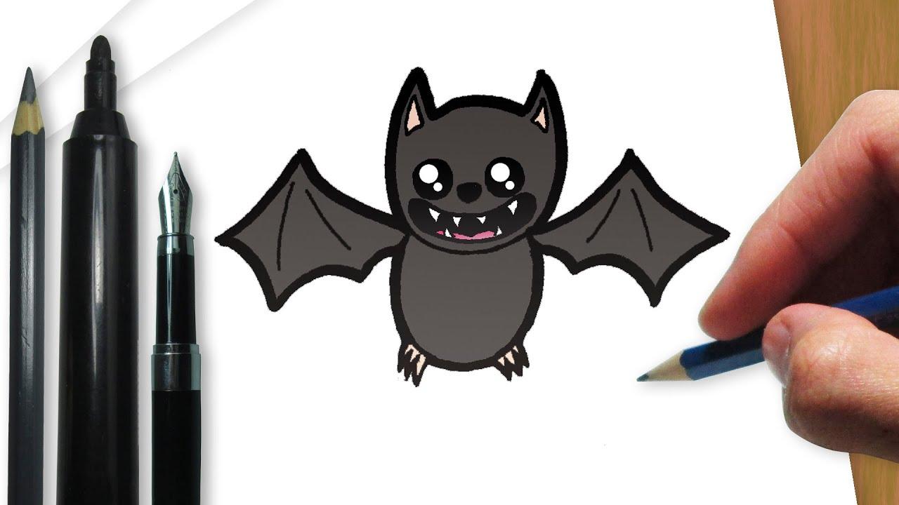 como desenhar um morcego de halloween youtube