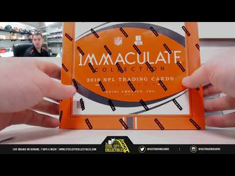 2018 PANINI IMMACULATE FOOTBALL HOBBY BOX RANDOM SERIAL # GROUP BREAK #16
