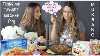 TRYING OUR FAVORITE CHILDHOOD FOODS | MUKBANG WITH TONI SEVDALIS