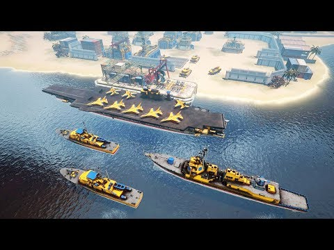 new-aircraft-carrier-at-war---naval-battles-&-base-building-|-armor-clash-3-gameplay